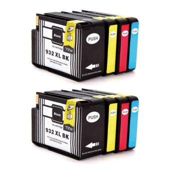 Harga Jiaing Compatible for HP 932 xl & 933 xl Ink Cartridge (2Black 2Cyan 2Meganta 2Yellow) -8 Pcs