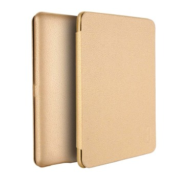 Harga LENUO Ultra Thin Flip Cover Case Soft Leather Cell Phone Cases For Amazon Kindle Paperwhite 1 / 2 / 3 (Gold) - Intl