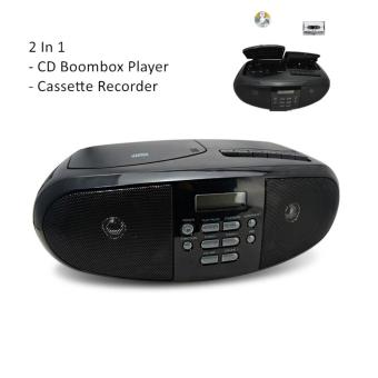 Portable CD Player Tape Cassette Home Audio Speaker & AM/FM Radio Boombox - intl