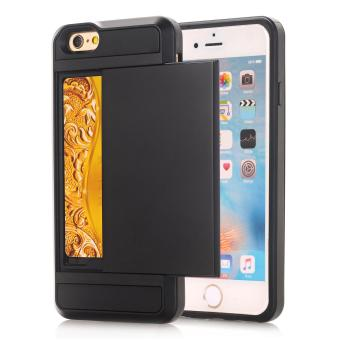 Harga Ueokeird Wallet Case Card Pocket Dual Layer Hybrid Rubber Bumper Protective Card Case Cover for Apple iPhone 6 Plus / 6s Plus - intl