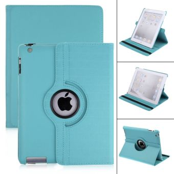Harga Rotate Smart Leather Case Cover For Apple IPAD2/3/4-Sky blue - intl