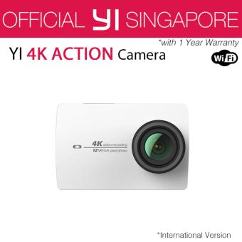 Official XiaoYi Yi 4K Action Camera 2 (White) International English Version