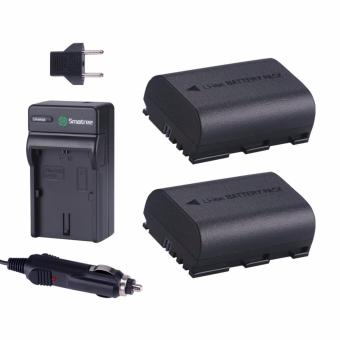 Harga Smatree Replacement Battery(2-Pack) + Battery Charger for Canon LP-E6, LP-E6N