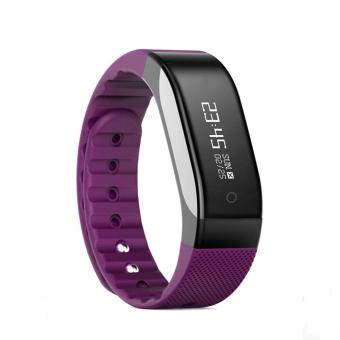 Harga SMA - BAND Bluetooth 4.0 Smart Wristband with 0.88 inch OLED(Purple) - intl