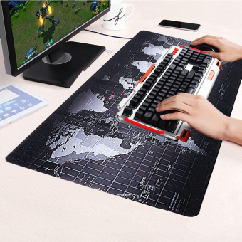 Harga Large Size Non-Slip World Map Speed Game Mouse Pad Gaming Mat for Laptop PC - intl
