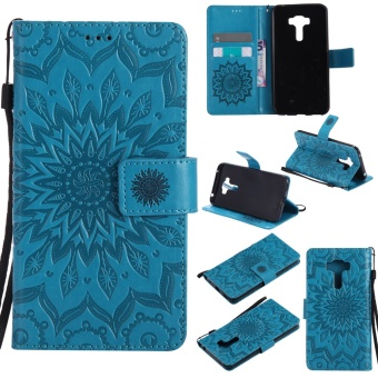 Harga Ueokeird Fashion Sunflower Protective Stand Wallet Purse Credit Card ID Holders Magnetic Flip Folio TPU Soft Bumper PU Leather Ultra Slim Fit Case Cover for Asus Zenfone Selfie ZD551KL - intl
