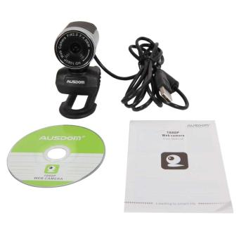 Harga AUSDOM AW615 USB 2.0 HD 1080P Webcam for Mic PC Laptop Silver - intl