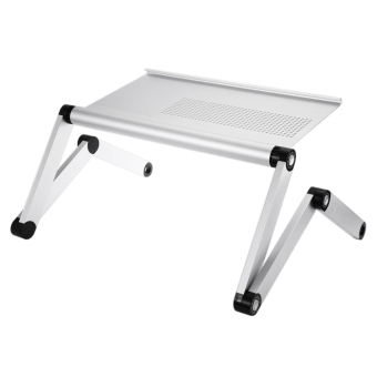 OMAX A6L Adjustable Height Laptop Desk Notebook Table with Vented Stand (Silver) - intl