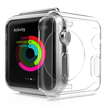 Harga Blusky Full Body Clear Soft Flexible TPU Case with Tempered Screen Protector for Apple Watch Series 1 - 42 mm Clear - intl