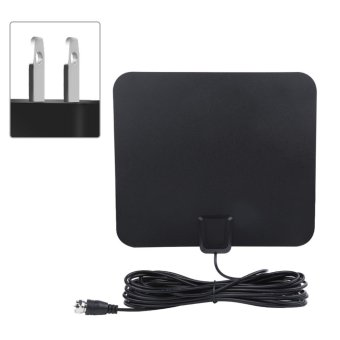 Harga 50 Miles Range High Gain Indoor Amplified Digital TV HDTV Antenna with 16ft Cable(US Plug) - intl