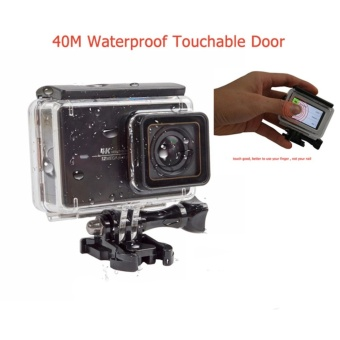 Touchable 30 meters waterproof case diving housing box for xiaomi yi 2 4k yi 4k action camera - intl