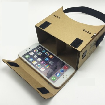 Harga Google Cardboard V1 Jumbo Version 1 3D VR With Head Strap