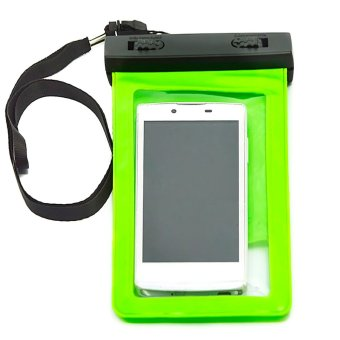 Harga Vococal Portable Waterproof PVC Bag with Arm Band and Neck Strap for iPhone 4S 5S 6 Plus 6S 6S Plus Samsung Galaxy S7 Edge S5 S6 Note 5 (Green) - intl