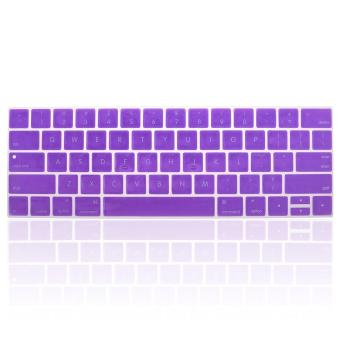 "Harga Lightning Power - Keyboard Protector Cover Silicone Skin for Latest (Model A1706/A1707/A1708) New Version MacBook Pro 13"" 15"" Retina Display (2016 Version, With Touch Bar) (Purple) - intl"