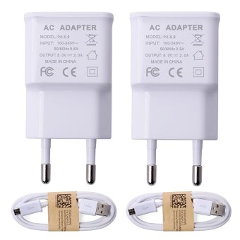 Harga XCSource USB Home Wall Charger + Data Cable for Samsung Galaxy S3 S4 S5 Note 2 3 BC300 Set of 2 - intl