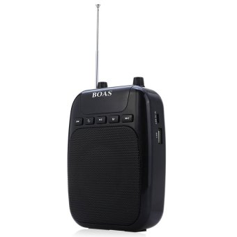 Harga BOAS BQ - 850 Voice Amplifier Speaker FM Radio Portable PA System with Microphone (Black)