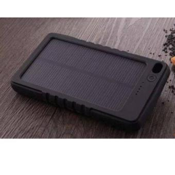 Harga 8000mAh Solar Charger Power Bank (Black)
