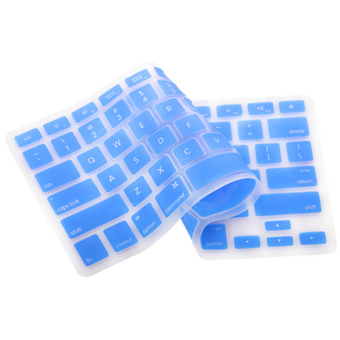 Harga Silicone Keyboard Cover Skin for Apple Macbook Pro MAC 13 15 17 Air 13 (Light Blue)