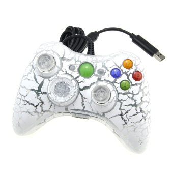 Harga USB Wired Game Controller Joystick Gamepad for XBOX 360 - White + Grey - intl
