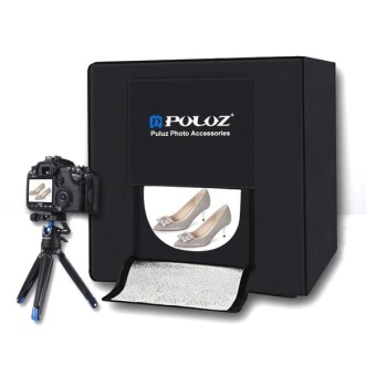 Harga PULUZ Folding Portable Photo Lighting Studio Shooting Tent Box Kit With 3 Colors Backdrops (Black, Yellow, White), Size: 60cm X 60cm X 60cm - intl