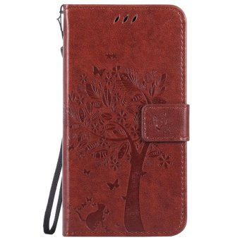 Harga Fashion Tree Protective Stand Wallet Purse Credit Card ID Holders Magnetic Flip Folio TPU Soft Bumper PU Leather Ultra Slim Fit Case Cover for Xiaomi Redmi Note 3 - intl