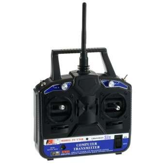 Harga FlySky FS-CT6B 2.4GHz 6-Channel Digital LCD Transmitter & Receiver Radio Control System Set for RC Helicopter Airplane (Black)