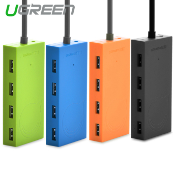 Harga UGREEN USB 3.0 4 Ports HUB with Power Supply Port for PC Laptop (Green)