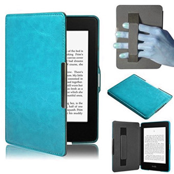 Harga PU Leather Folio Case Cover For Amazon Kindle Paperwhite (Sky Blue)