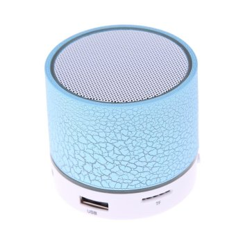 Harga VAKIND Mini Wireless Bluetooth Speaker Colorful USB Speaker (Blue) - intl