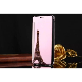 Smart Sleep Mirror Flip Case Cover For Apple iPhone 6 Plus / 6s Plus(rose gold) - intl