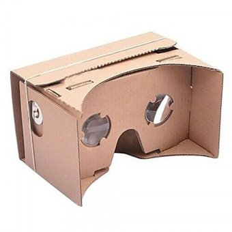 Harga DIY Google Cardboard 3D Viewing Glasses Brown - intl
