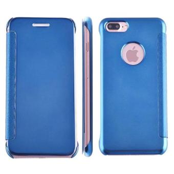 Smart sleep mirror leather case Cover for Apple iPhone 7 Plus (blue) - intl