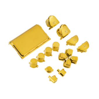 OH Chrome Button Replacement Mod Game Kit for Playstation 4 PS4 Controller Gold