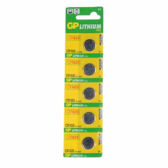 Harga GP Lithium Cell CR1620 3V (DL1620) 10 Button Batteries