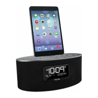 iHome iDL46GE Dual Charging Stereo FM Clock Radio with Lightning Dock and USB Charge/Play for iPhone/iPod/iPad