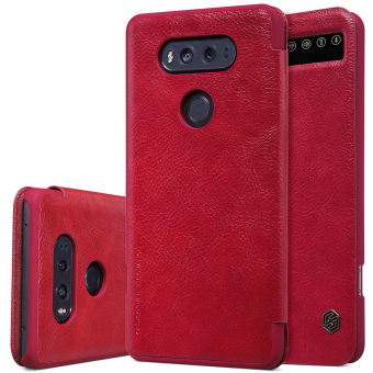 Harga Original Case For smartphone LG V20 Nillkin luxury flip cover Ultra Thin Design leather Case 360 degree protection for LG V20 (Red) - intl