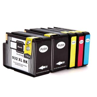 Harga Jiaing Compatible for HP 932 xl & 933 xl Ink Cartridge (2Black 1Cyan 1Meganta 1Yellow) -5 Pcs