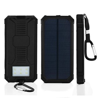 Harga Solar 36,000mah Power Bank black