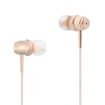 Harga ELE E1 3.5mm Earphone Microphone Piston Headset Headphone Listening Music with Earbud for iPhone Android Smartphone Wire-control GOLD - intl