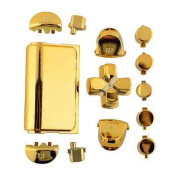 Fashion Buttons Mod Chrome Gold For Sony Playstation 4 PS4 Controller - intl