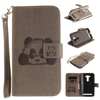 Harga Ueokeird Panda Protective Stand Wallet Purse Credit Card ID Holders Magnetic Flip Folio TPU Soft Bumper PU Leather Ultra Slim Fit Case Cover for ASUS ZenFone 2 Laser ZE551KL - intl