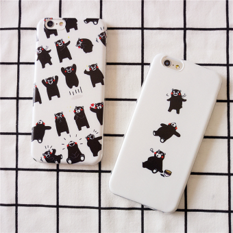 Harga Kumamoto bear cute apple 5 s/plus couple 7/7plus iphone6s painted soft shell mobile phone shell protective sleeve