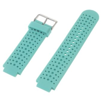 Harga Silicone Watch Strap for Garmin Forerunner 220 230 235 630 620 735XT with Pins & Tools - Cyan - intl