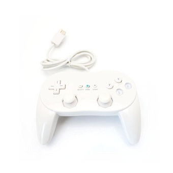 Harga leegoal Wired Game Controller Classic Pro Gamepad For Nintendo Wii ( White)
