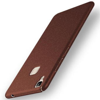 Harga Super Hard PC Ultrathin Cover Protect Case For Vivo V3 Scrub Phone Cases(Coffee)