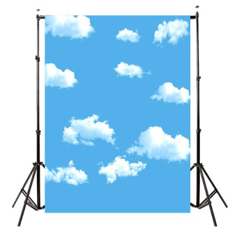 Harga 5x7FT Blue Sky Cloud vinyl Photography Backdrop Photo background Prop For Studio