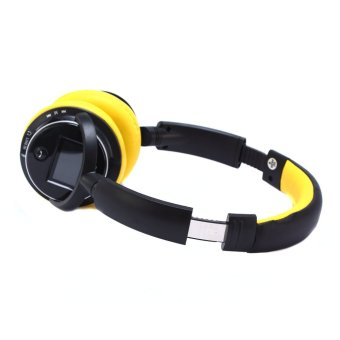 Harga Zealot B380 Wireless Bluetooth Headphone Sport Stereo Headset FM + LCD + TF(Yollow)