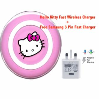 Harga [Bundle Pack] Hello Kitty Fast Wireless Charge for Samsung models that supports Fast Charging + Samsung Fast Charger Adapter EP-TA20UWE