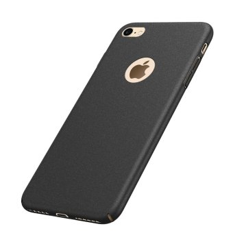 Harga NingMao Smoothly Rock Sand Matte Shield Hard Cover Skin Shockproof Ultra Thin Slim Full Body Protective Scratch Resistant Slip Case for iPhone 6/6s (Frosted Black) - intl