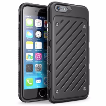 Harga Hybrid PC TPU Shockproof Case for iPhone 6 6S (Black)